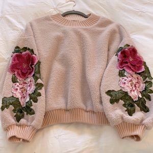 Goodnight Macaroon flower detail sweater